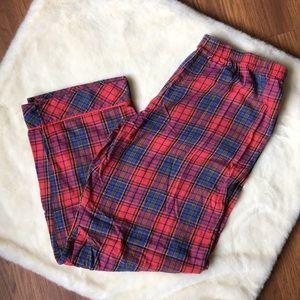 VICTORIA'S SECRET Red Plaid Cotton Pajama Pants